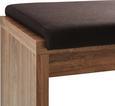 Sitzbank Braun Holz - Akaziefarben, MODERN, Holzwerkstoff (126/46/35cm) - Premium Living