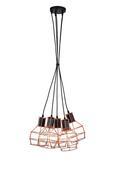 Viseča Svetilka Nia - črna/baker, Moderno, kovina (15/127cm) - Mömax modern living