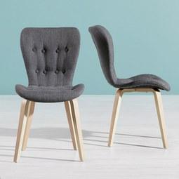 Stuhl Jaque - Hellgrau, MODERN, Holz/Textil (49/87,5/64cm) - MÖMAX modern living