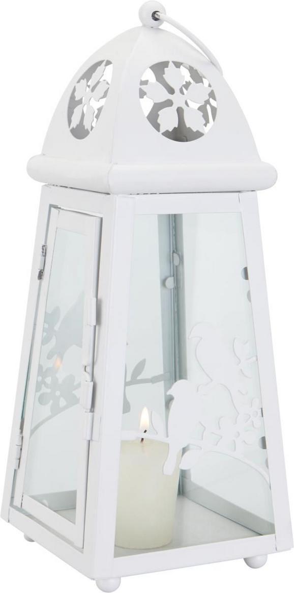 Laterne Helga in Weiß aus Metall/Glas - Weiß, ROMANTIK / LANDHAUS, Glas/Metall (11,2/11,2/28cm) - MÖMAX modern living