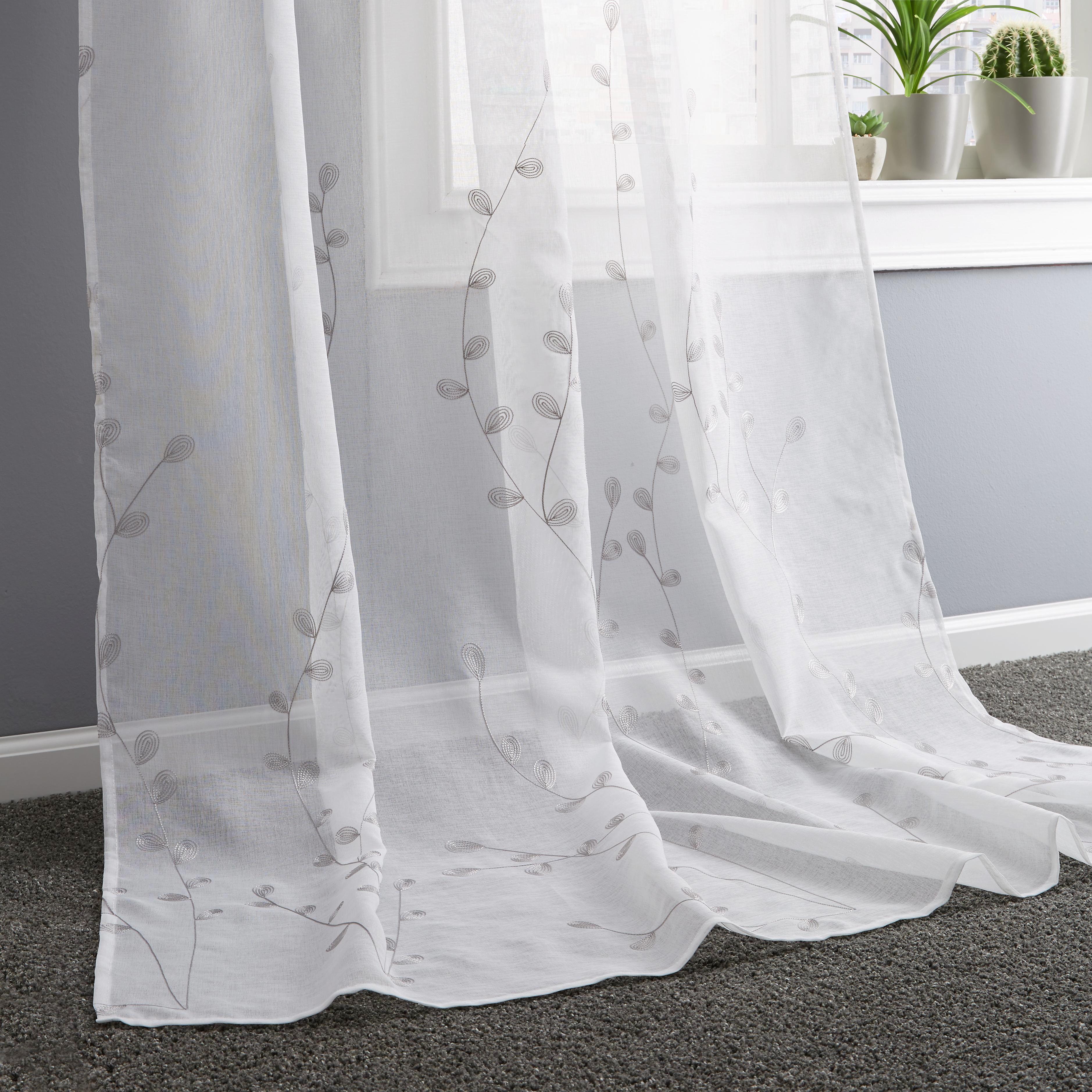 Készfüggöny Rebekka - homok színű/fehér, modern, textil (140/245cm) - MÖMAX modern living