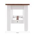 SITZBANK aus Kiefer 'Alessandra' - Weiß/Kieferfarben, MODERN, Holz (140/40/45cm) - Bessagi Home