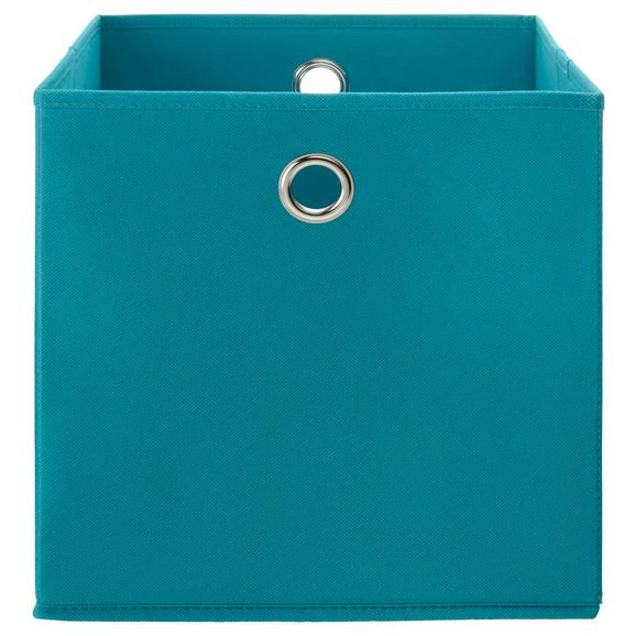 Faltbox Fibi Türkis - Türkis, MODERN, Karton/Textil (30/30/30cm) - Based