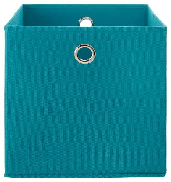 Zložljiv Zaboj Fibi -ext- -top- - turkizna, Moderno, kovina/karton (30/30/30cm) - Based