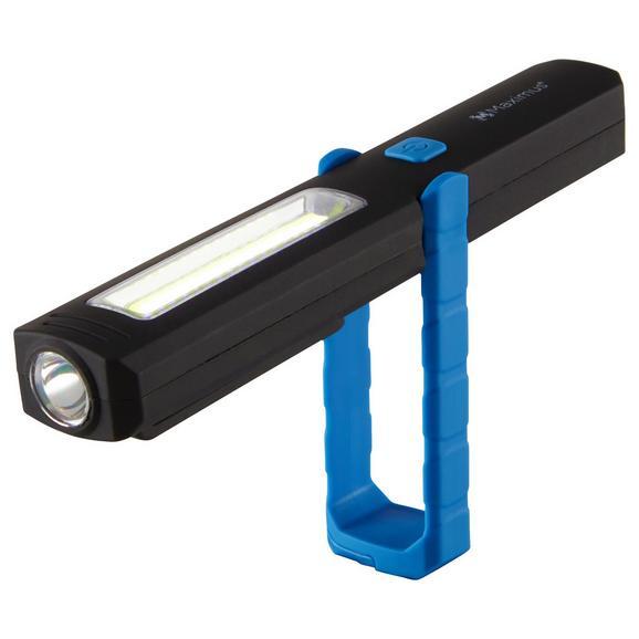 Taschenlampe Maximus in Schwarz/Blau - Kunststoff (21,3/6,1/3,2cm)