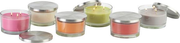 Kerze im Glas mit Deckel Erich In verschiedene Farben - Klar/Rot, Glas/Metall (13/7cm) - Mömax modern living