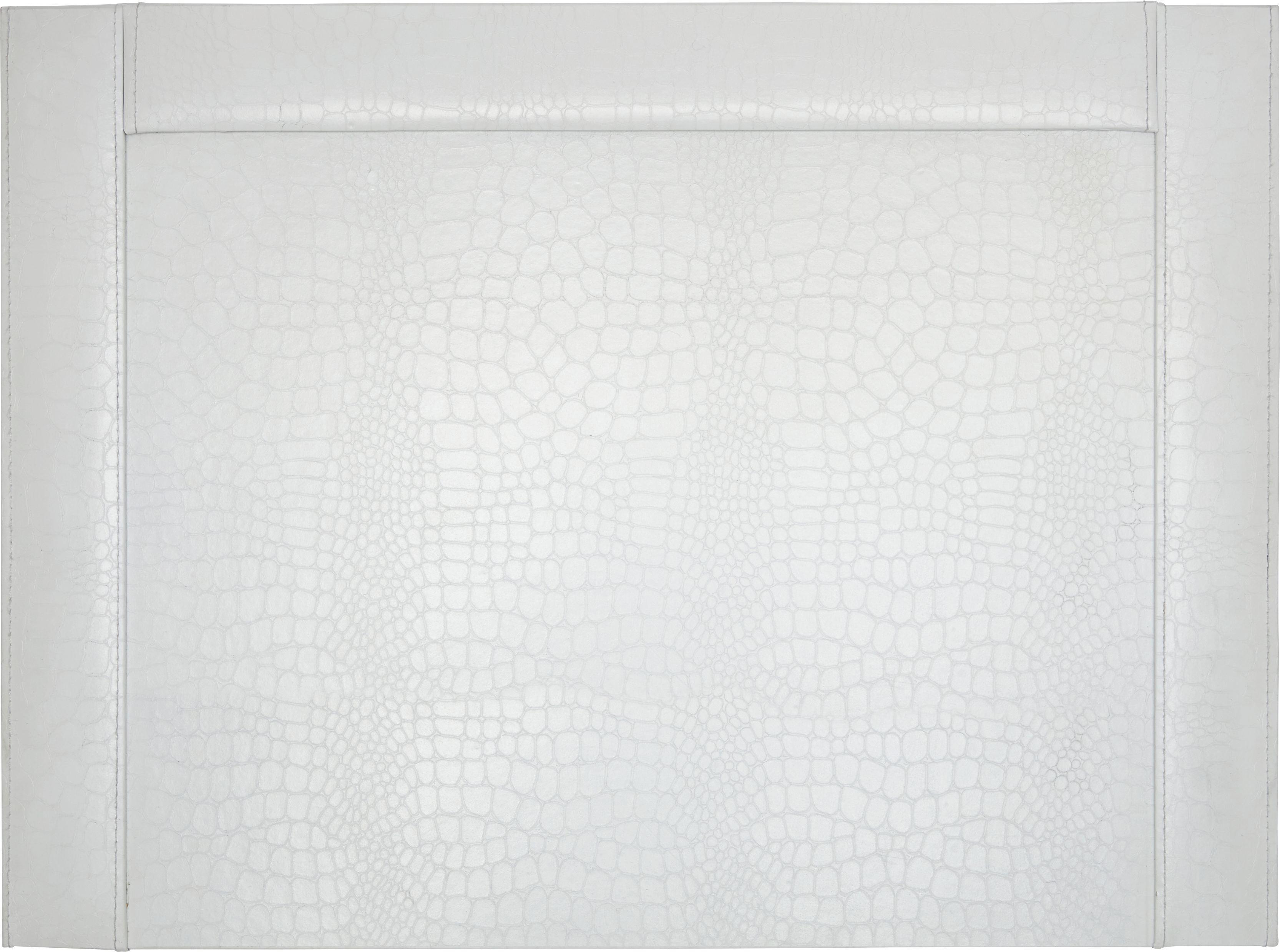 Íróalátét Krokodilbőr Hatás - fehér, Lifestyle, karton (52/0,8/38cm) - MÖMAX modern living