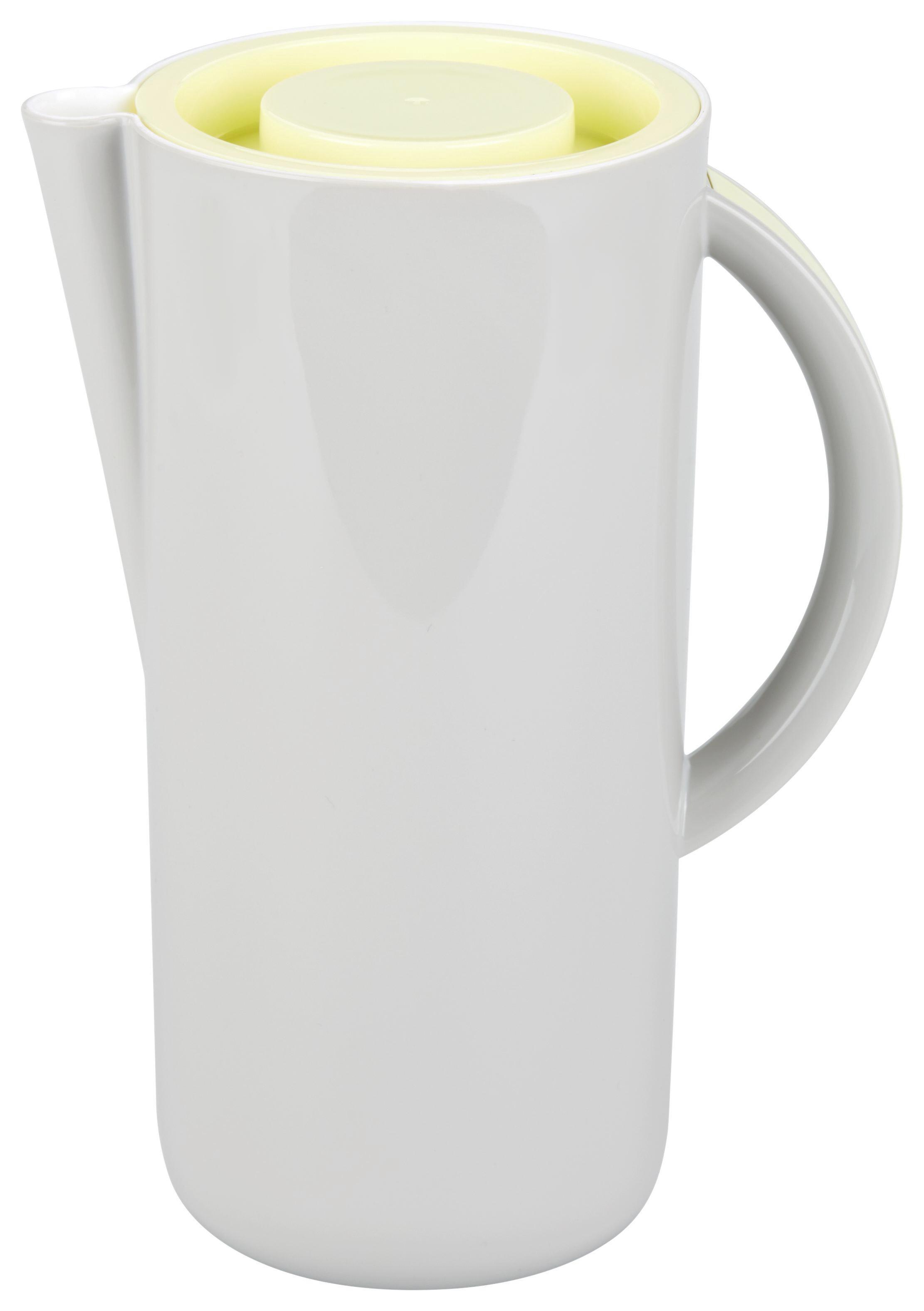 Saftkrug Leonor - Gelb/Weiß, MODERN, Kunststoff (1,6l) - MÖMAX modern living