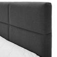 Boxspringbett Greta ca.180x200cm inkl. Topper - Dunkelgrau, MODERN, Holz/Textil (213/186/106cm) - Mömax modern living