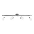 Deckenleuchte Bahar max. 25 Watt - Silberfarben/Weiß, ROMANTIK / LANDHAUS, Kunststoff/Metall (43cm) - Modern Living