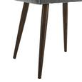 Stuhl Nicola - Dunkelbraun/Grau, MODERN, Holz/Textil (58/82,5/45cm) - Mömax modern living