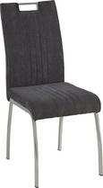 Stol Katja - siva/krom, Moderno, kovina/tekstil (43/98/59cm) - Modern Living