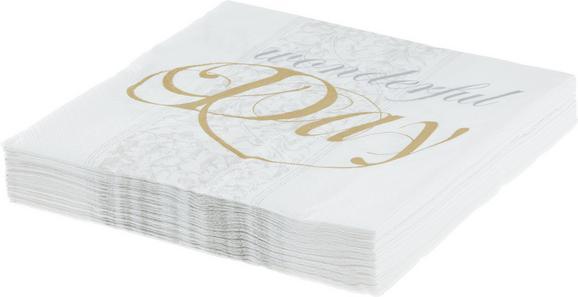 Serviette Patty aus Papier in Grau/Weiß - Weiß/Grau, Papier (16,5/16,5cm) - Mömax modern living