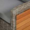 DINING-LOUNGESET VERONA - Gelb/Hellgrau, Design, Holz/Kunststoff (172/268cm) - Ambia Garden