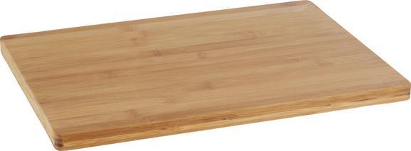 Schneidebrett Bamboo in Natur aus Echtholz - Naturfarben, Holz (35/25/1,7cm) - Mömax modern living