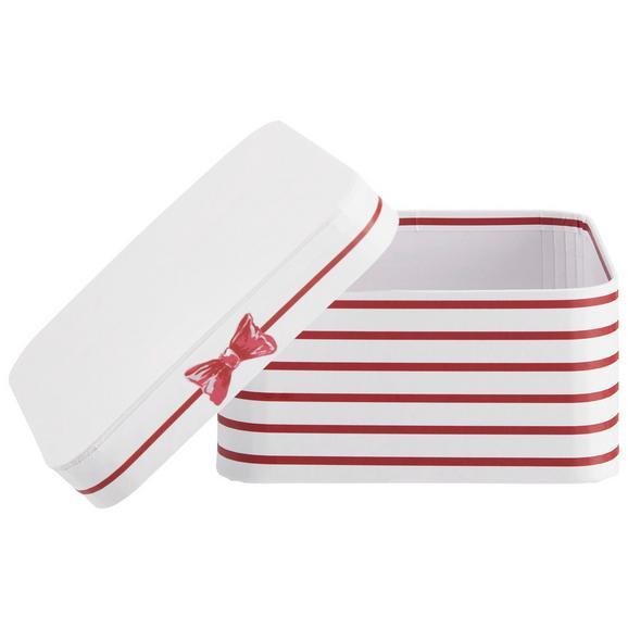 Cutie Pentru Cadouri Bow - alb/roșu, Modern, carton/hârtie (14/14/7cm) - modern living