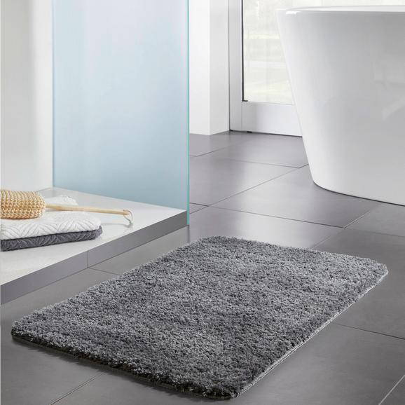 Badematte Solo ca.50x80cm - Dunkelgrau, MODERN, Textil (50/80cm) - Bessagi Home