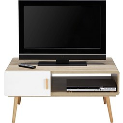 TV-Element Claire - Naturfarben/Weiß, MODERN, Holz (100/46,6/59cm) - Mömax modern living