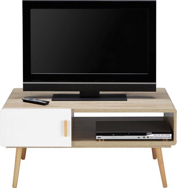 TV-möbel Claire - Eichefarben/Weiß, MODERN, Holz (100/46,6/59cm) - Mömax modern living