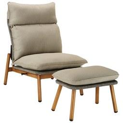 Počivalnik Schweiz - bež/rjava, kovina/tekstil (72/97/124cm) - Modern Living