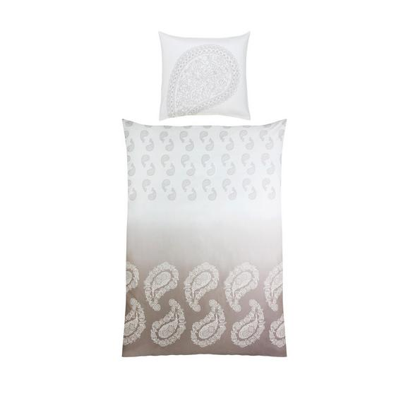Bettwäsche Paisley ca. 135x200cm - Taupe/Weiß, LIFESTYLE, Textil (135/200cm) - Premium Living