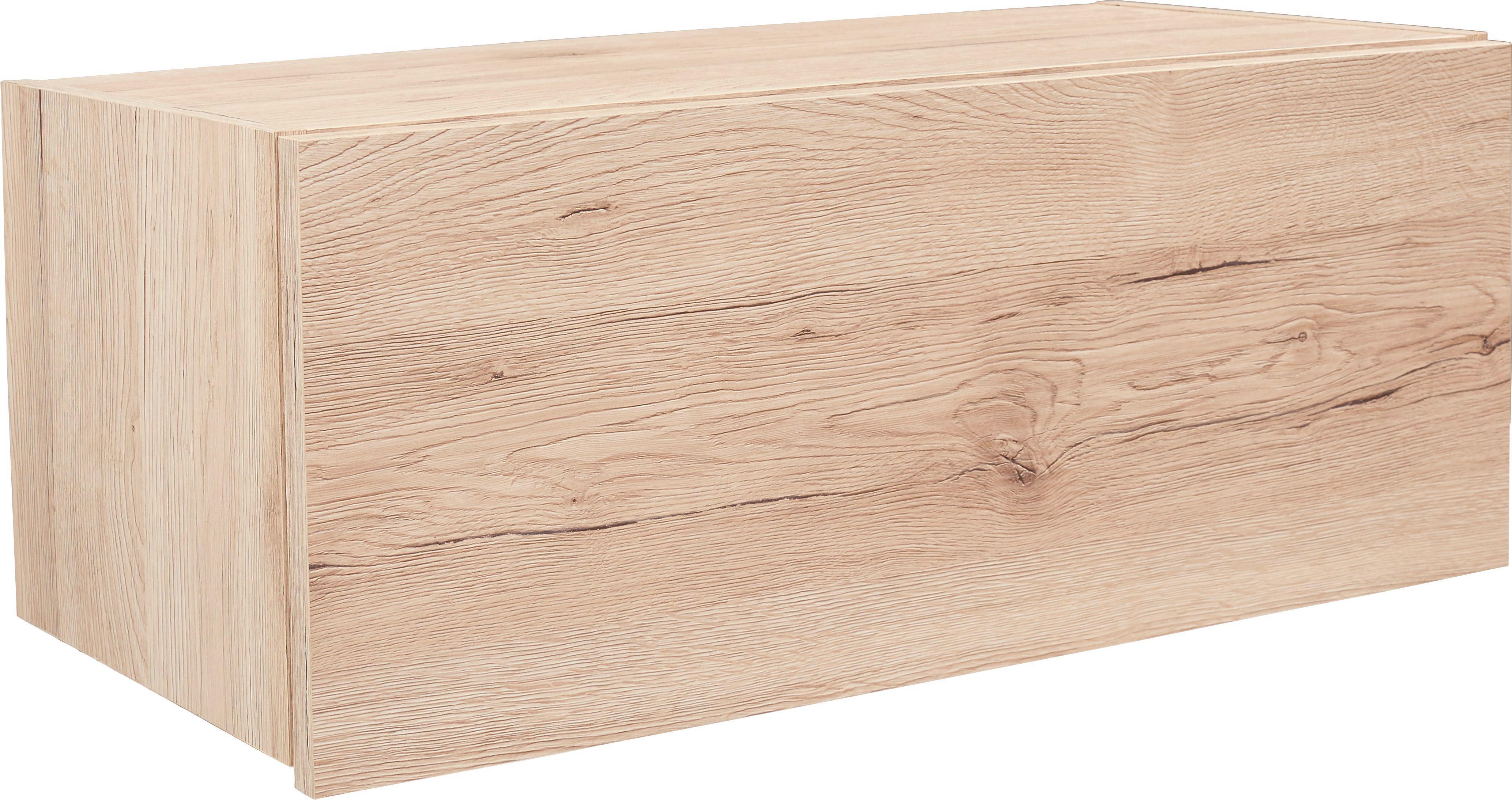 Falipolc Halma - tölgy színű, modern, faanyagok (26,5/75/28cm)