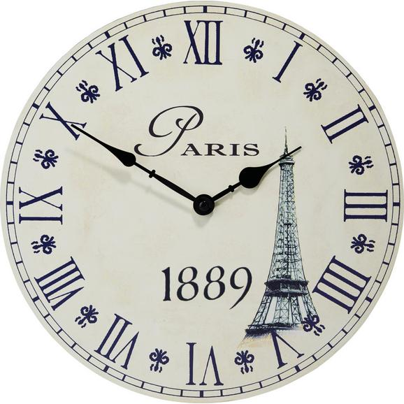 Ceas Perete Eiffelturm - nisipiu, Romantik / Landhaus, lemn (33cm) - Mömax modern living