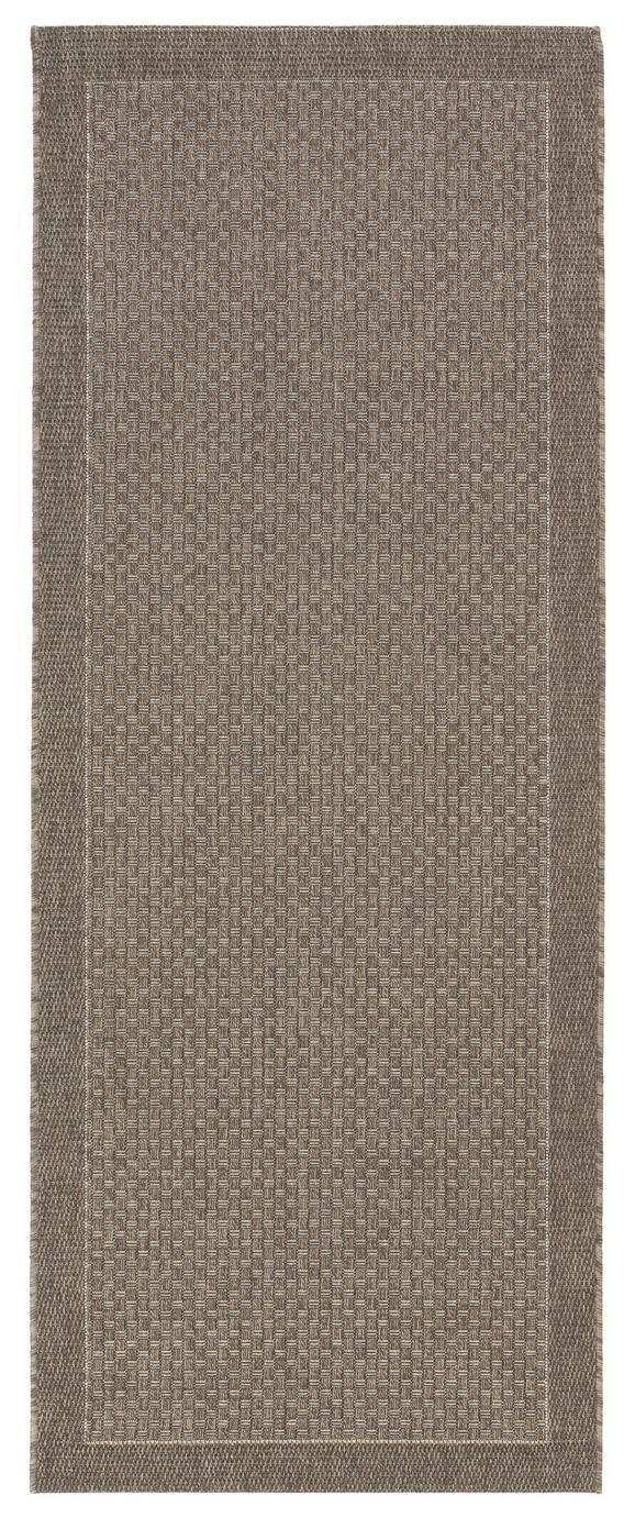 Flachwebeteppich Grace in Braun, ca. 80x200cm - Dunkelbraun, MODERN, Textil (80/200cm) - MÖMAX modern living