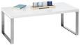 Couchtisch Buly 100x50cm - Edelstahlfarben/Weiß, MODERN, Metall (100/50/38cm) - Modern Living