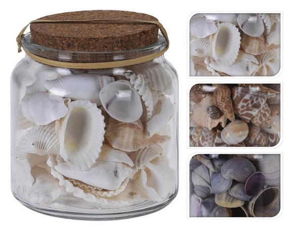 Dekomuschel Mina Verschiedene Designs - Natur, Glas (10cm)