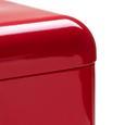 Echtwerk Brotbox Retro mit Sichtfenster - Rot, MODERN, Metall (42,5/23,8/17,0cm) - Echtwerk