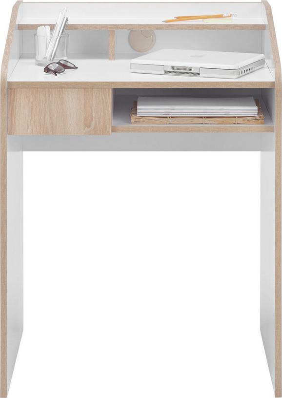 Schreibtisch in Weiß aus Holz - Weiß, Holzwerkstoff (68,2/90/54,6cm) - MÖMAX modern living