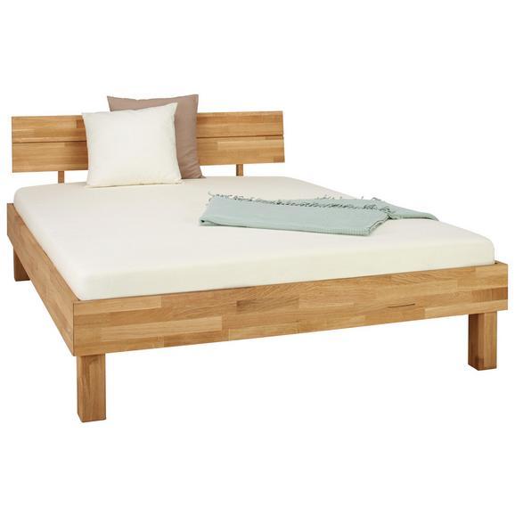 8f46b522e7 Bett aus Eiche Massiv ca. 145x80cm - Eichefarben, Natur, Holz (140/