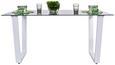 Jedilna Miza Paul - siva/bela, Moderno, steklo (150/76/90cm)