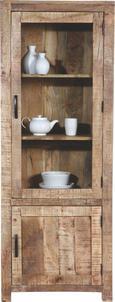 Vitrine Braun Mangoholz - Naturfarben, LIFESTYLE, Holz (67/180/42cm) - Zandiara