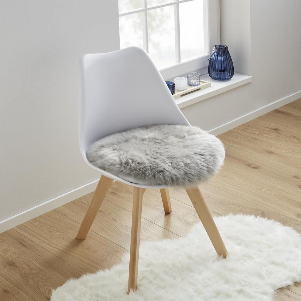 Sitzkissen in Grau 'Mona' Ø ca. 40 cm