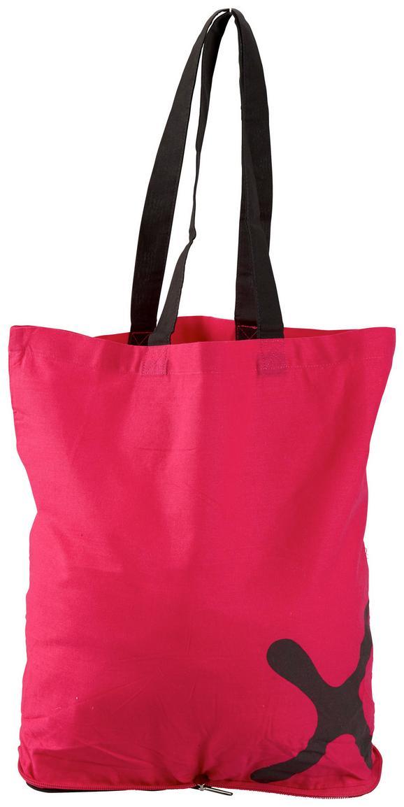 Einkaufstasche Mömax in Pink/Grau - Pink/Grau, Textil (39/39cm) - Mömax modern living