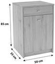 Komoda 4-you - hrast/krom, umetna masa/leseni material (50/85,4/34,6cm) - Mömax modern living