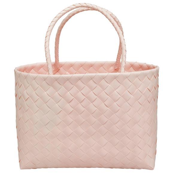 Einkaufskorb Lina aus Kunststoff - Pink, ROMANTIK / LANDHAUS, Kunststoff (38/16/29cm) - Mömax modern living