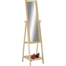 Standspiegel In Naturfarben   Naturfarben, MODERN, Glas/Holz (52/174/