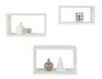 Wandregalset Weiß 3-teilig - Weiß, MODERN, Wellpappe (45/27/15,5cm) - Mömax modern living