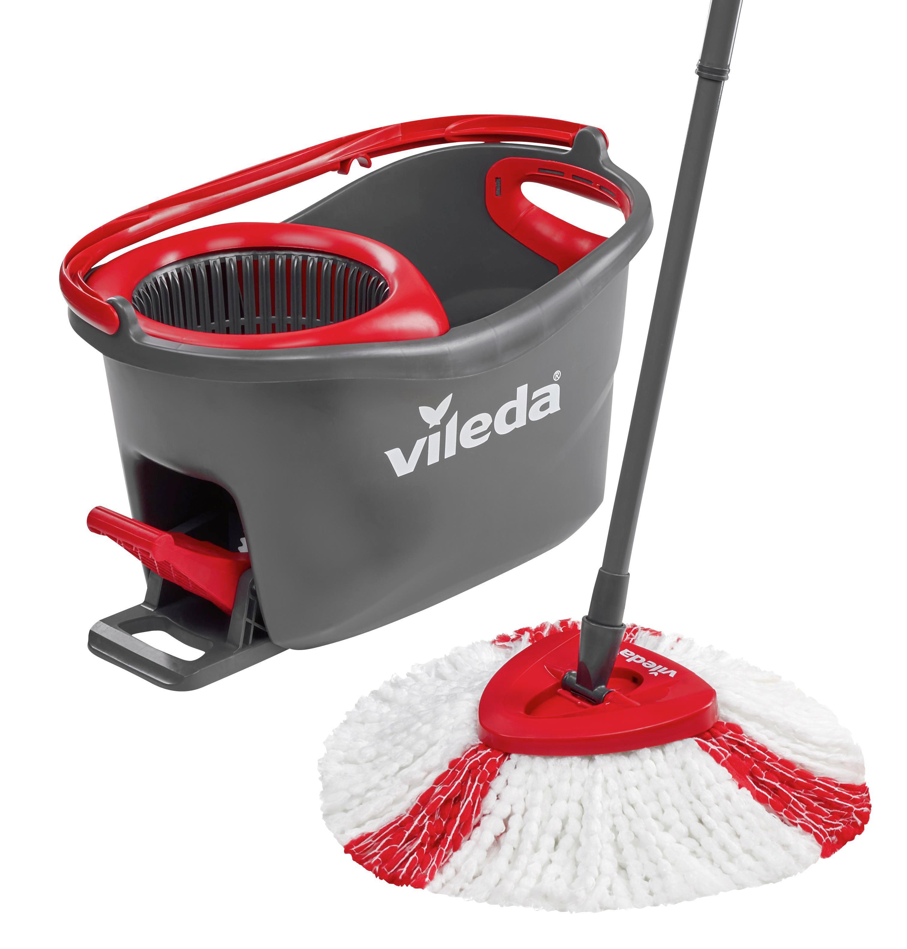Reinigungsset Supermocio Turbo 3-teilig - Rot/Weiß, KONVENTIONELL, Kunststoff/Textil (50/29,3/30cm) - VILEDA
