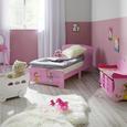 Kinderbett Alisa Ausziehbar - Rosa, MODERN, Holz (77/60/143cm) - Mömax modern living