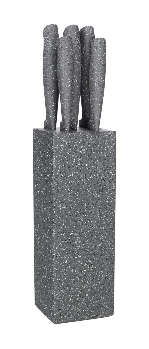 Messerset Garry 6-teilig in Grau - MODERN, Kunststoff/Metall (8/8/35cm) - MÖMAX modern living