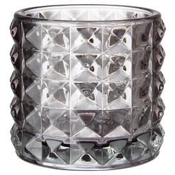 Windlicht Jolina - Hellgrau, MODERN, Glas (9,8/9,8cm) - Mömax modern living