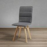 Stuhl Tim - Buchefarben/Grau, MODERN, Holz/Textil (43/88/53,5cm) - Modern Living