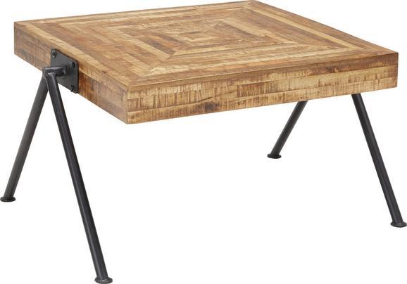 Couchtisch Holz - Schwarz/Naturfarben, MODERN, Holz/Metall (70/45/70cm) - Zandiara
