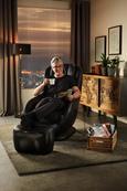 Massagesessel Darwin Schwarz - Schwarz, LIFESTYLE, Textil (110/105/71cm) - Premium Living