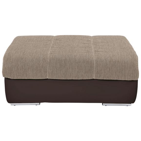 Tabure Multi - boje pijeska/boje kroma, Modern, tekstil/metal (100/43/80cm) - Modern Living