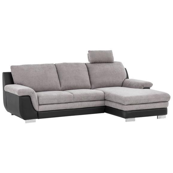 Canapea Modulară Conrad - negru/gri, Modern, textil (270/166cm)